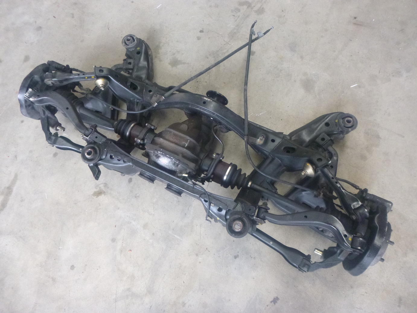 Nissan S15 200sx Complete Rear Suspension Cradle Control Arms LSD Diff Assembly   eBay