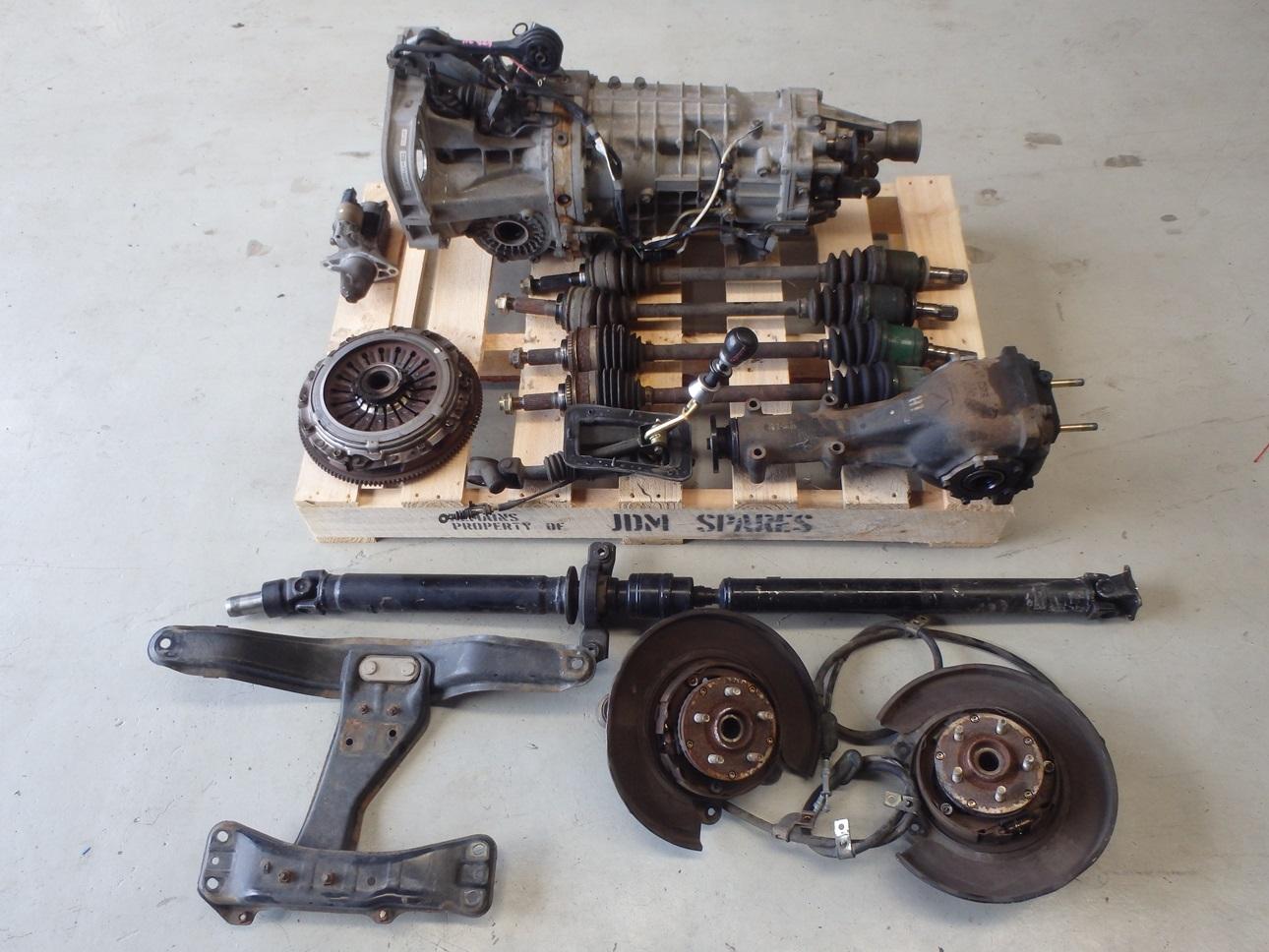 subaru forester sg9 sti 2004 6 speed manual gearbox conversion r180 rear 1 ebay. Black Bedroom Furniture Sets. Home Design Ideas